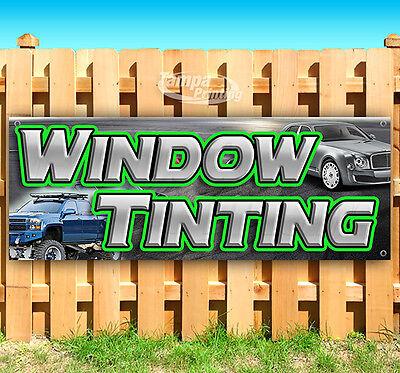 Window Tinting Advertising Vinyl Banner Flag Sign Usa Many Sizes 18 24 36 52
