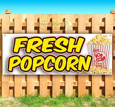Fresh Popcorn Advertising Vinyl Banner Flag Sign Many Sizes Usa