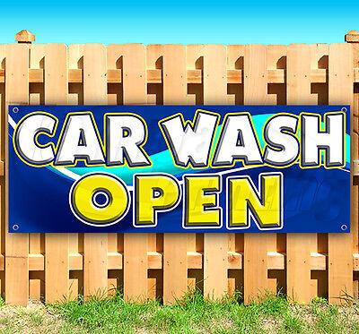 Car Wash Open Advertising Vinyl Banner Flag Sign 15 18 24 40 52