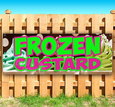 Frozen Custard Advertising Vinyl Banner Flag Sign Many Sizes Usa