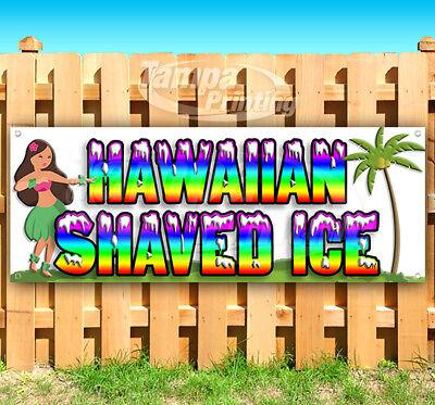 Hawaiian Shaved Ice Advertising Vinyl Banner Flag Sign Many Sizes Usa