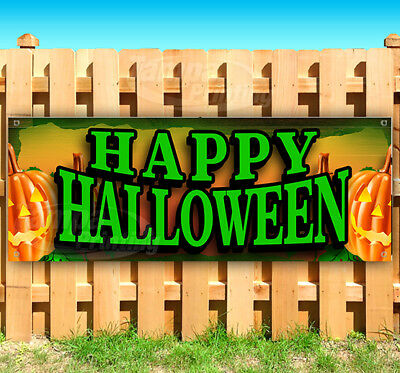 Halloween Vinyl Banners (HAPPY HALLOWEEN Advertising Vinyl Banner Flag Sign Many Sizes)