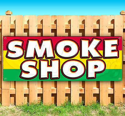 Smoke Shop Advertising Vinyl Banner Flag Sign 15 18 24 40 52