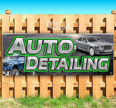 Auto Detailing Advertising Vinyl Banner Flag Sign Usa Many Sizes 18 24 36 52