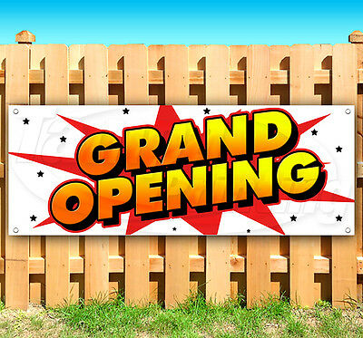 Grand Opening Advertising Vinyl Banner Flag Sign Usa 15 18 20 30 48 52