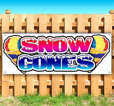 Snow Cones Advertising Vinyl Banner Flag Sign Fair Carnival Food Usa