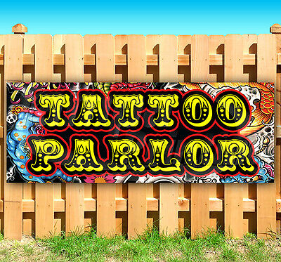 Tattoo Parlor Advertising Vinyl Banner Flag Sign 15 18 20 24 30 48 52