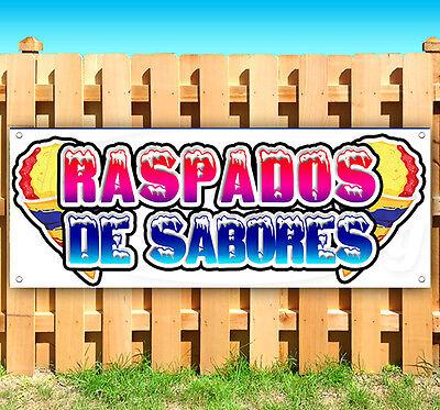 Raspados De Saboros Spanish Advertising Vinyl Banner Flag Sign Carnival Food