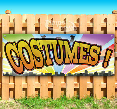 Halloween Vinyl Banners (COSTUMES HALLOWEEN Advertising Vinyl Banner Flag Sign Many Sizes FALL)