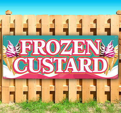 Frozen Custard Advertising Vinyl Banner Flag Sign Usa Carnival Food Fair