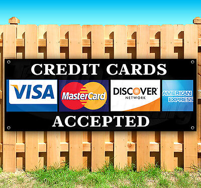 Credit Cards Advertising Vinyl Banner Flag Sign Many Sizes Usa 15 18 36 48