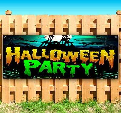 Halloween Party Advertisement (HALLOWEEN PARTY Advertising Vinyl Banner Flag Sign Many Sizes)