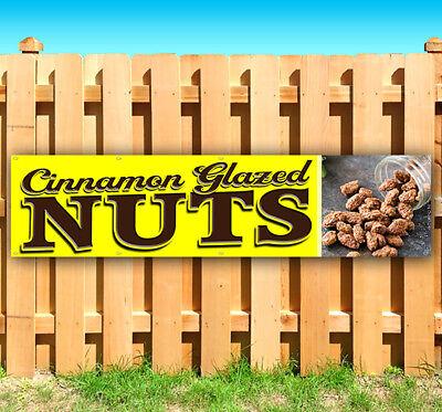 CINNAMON GLAZED NUTS Advertising Vinyl Banner Flag Sign Many Sizes USA