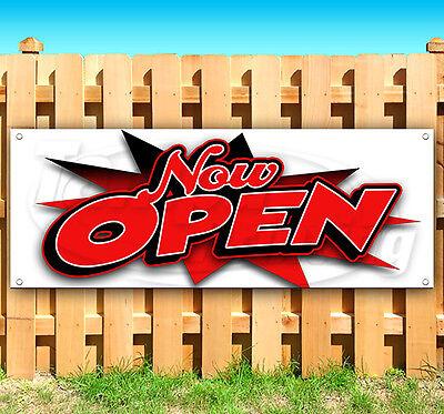 Now Open Advertising Vinyl Banner Flag Sign Usa 15 18 20 30 52