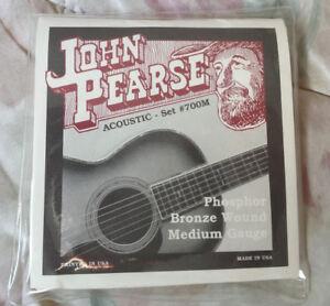 New John Pearse Guitar Strings Phosphor Bronze Medium Gauge