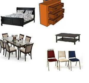 Furniture. Any beds, dressers, chairs, tables etc.