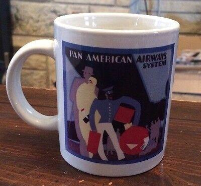 Pan American Airways System Coffee Mug Ceramic 10 Oz. Pan Am Vintage