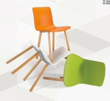 White/Yellow/Orange Urban Nordic Heme Chair