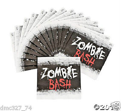 16 HALLOWEEN Paper Party ZOMBIE BASH BEVERAGE NAPKINS  - Halloween Party Beverages