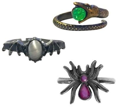 Hocus Pocus Cosplay Set of 3 Rings Disney Witch Witches Costume Accessories NEW](Witch Costume Accessories)