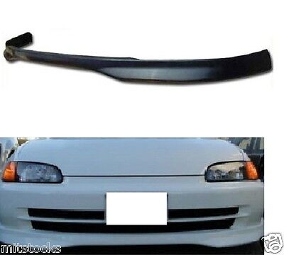 92-95 CIVIC 4 DOOR TYPE-R PU POLY URETHANE BLACK ADD-ON FRONT BUMPER LIP