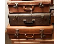 **£20** A variety of Vintage Leather Cases