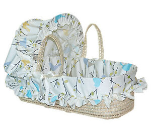 Jolly Jumper Moses Basket - Earthtone Birds