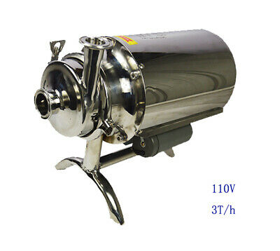 304 Food Grade Stainless Steel Centrifugal Pump Sanitary Beverage 110v 3th