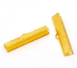 10X-TAPPI-TERMINALI-placcato-oro-7-5-x-30-mm-clip-FAI-TE-TINKER