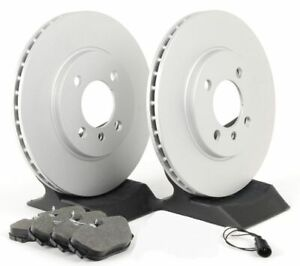 Premium Coated Brake Rotors (Pair) & Ceramic Pads 980642