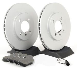 Premium Coated Brake Rotors (Pair) & Ceramic Pads Set 55074