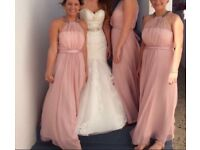 Coast bridesmaid dresses. Blush pink. Sizes 6,10 & 12.