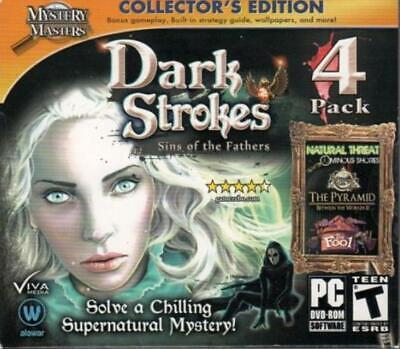 Computer Games - Dark Strokes 4 Pack PC Games Windows 10 8 7 XP Computer hidden object games pack