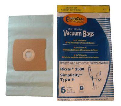 30 pk Riccar Simplicity Type H Vacuum Bags, part 811-12, Qty 5
