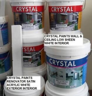 2 X 15 LT ACRYLIC PAINT SATIN WHITE 2 X 15LT WALL LOW SHEEN WHITE