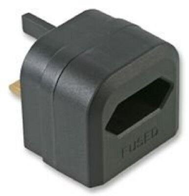 Uk-netzteil (2-polig Euro Stecker 3 Pin UK Netzteil Ladegerät Adapter 3A- Schwarz)
