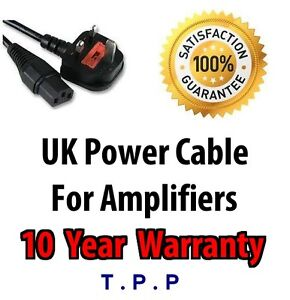 UK-Mains-Power-Lead-Cable-Cord-For-Peavey-Vox-Ampeg-AMP-Amplifier-Guitar-Cable