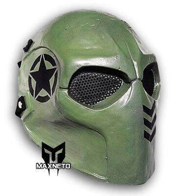 CACIQUE TACTICAL MILITARY ALIEN VS PREDATOR AIRSOFT LED LIGHT PAINTBALL CS MASK