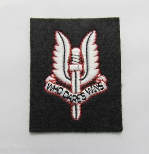 British-Army-SAS-Cloth-Beret-Badge-Patch-Military-R484