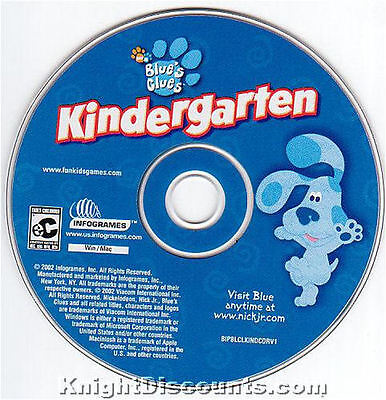 Educational Games For Kindergarten (BLUE'S CLUES KINDERGARTEN Kids Educational Blues for Windows & Mac PC Game)
