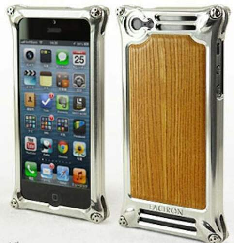 FACTRON - cover alluminio e legno per iPhone...
