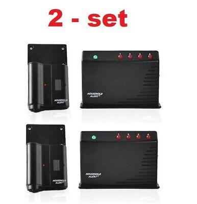 2 - Garage door opener alarm Security Safety Wireless audio Monitor Sensor set Security Garage Door Opener