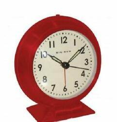 Westclox Battery Red Analog Alarm Clock with Metal Case Glass Lens Ships from US