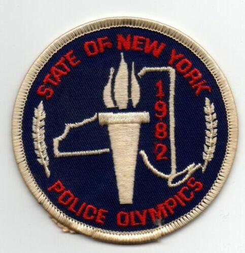 NEW YORK POLICE OLYMPICS 1982 NICE PATCH SHERIFF