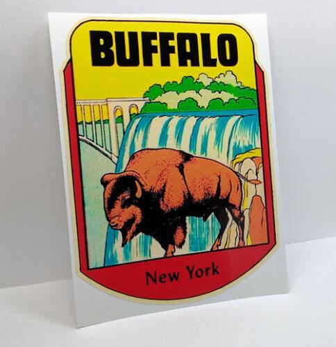 Buffalo New York Vintage Style Travel Decal / Vinyl Sticker, Luggage Label