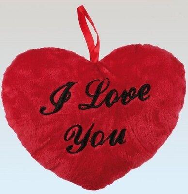 Plüschherz I love you M rot Herzkissen Herz Kissen love Valentinstag Plüsch