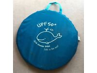 Pop-up tent / shelter (UPF 50+ ideal for protecting your family from sun/wind/rain).