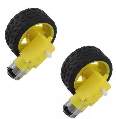 2pcs Smart Robot Car Plastic Wheel W Dc 6v Gear Motor For Arduinoraspberry Pi