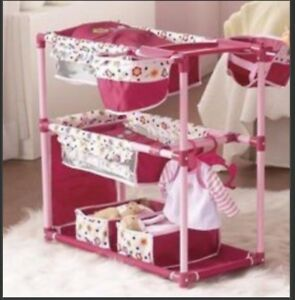 DOLL PLAY CENTRE SET (BEDS / HIGHCHAIR) BRAND NEW