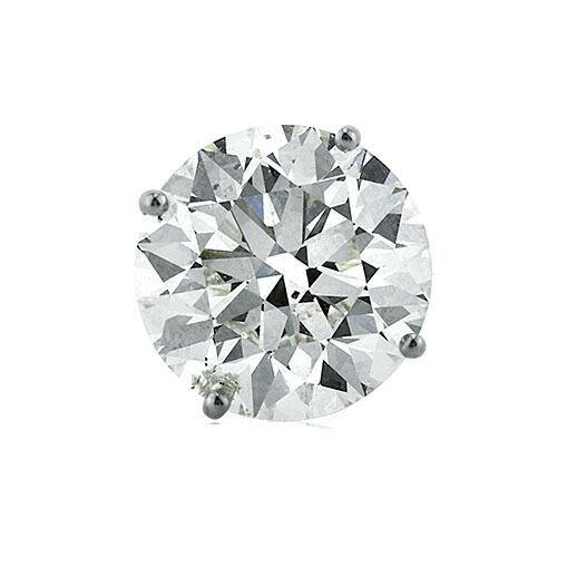 0.75 ct Round Diamond Single Stud Earring GIA cert D color SI1 14K White Gold